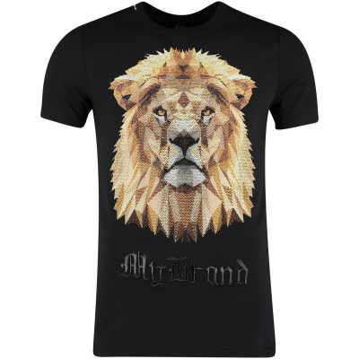 Picture of My Brand MMBTS012GM102 mens t-shirt black