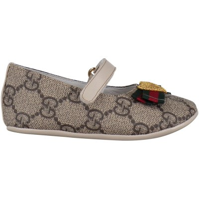 Picture of Gucci 418995 baby shoes brown