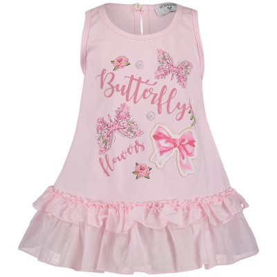 Picture of MonnaLisa 393611SJ baby tunic light pink