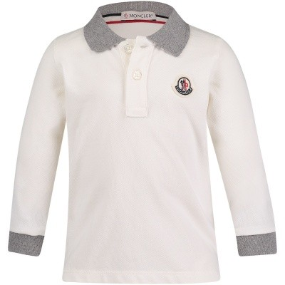 Afbeelding van Moncler 8307750 baby polo off white