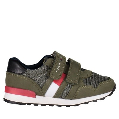 Picture of Tommy Hilfiger T1B430075 kids sneakers army