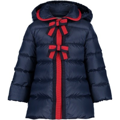 Picture of Gucci 526420 baby coat blue