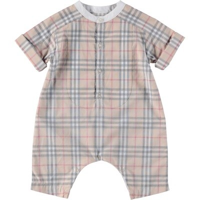 Picture of Burberry 8007133 baby playsuit light beige