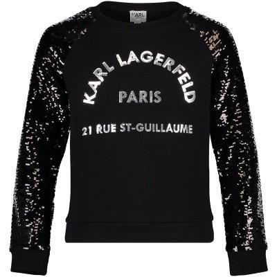 Afbeelding van Karl Lagerfeld Z15161 kindertrui zwart