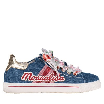 Picture of MonnaLisa 8C3024 kids sneakers jeans