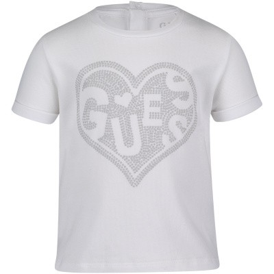 Picture of Guess A92I00 baby shirt white