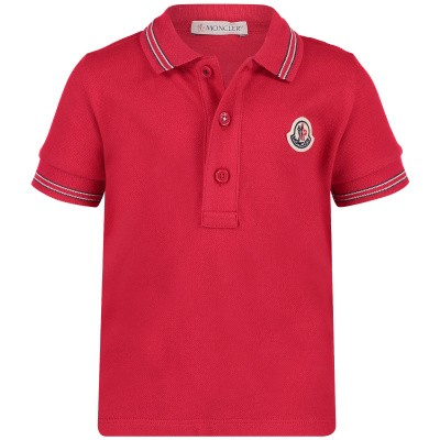 Picture of Moncler 8306605 baby poloshirt red