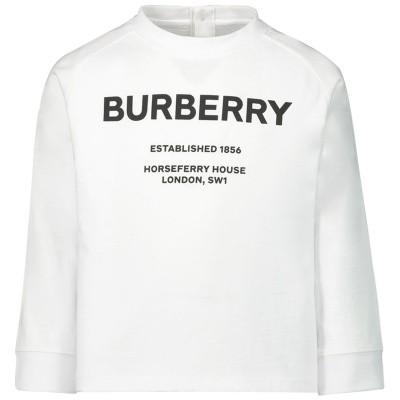 Afbeelding van Burberry 8012788 baby t-shirt wit