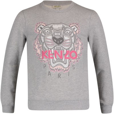 Picture of Kenzo KN15118 kids sweater grey