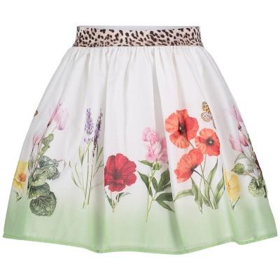 Picture of MonnaLisa 113707 kids skirt white