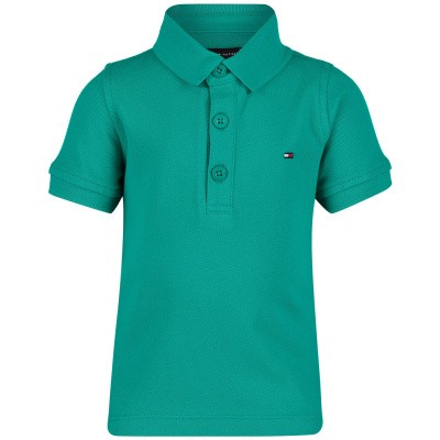 Picture of Tommy Hilfiger KB0KB04527 B baby poloshirt green