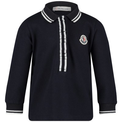 Picture of Moncler 8355105 baby poloshirt navy