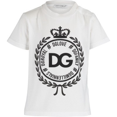 Afbeelding van Dolce & Gabbana L1JT7W G7RIF baby t-shirt wit