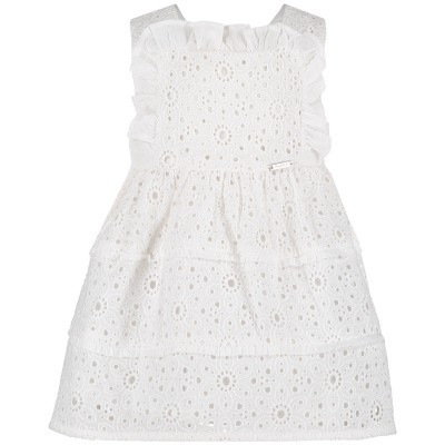 Picture of Mayoral 1928 baby dress white