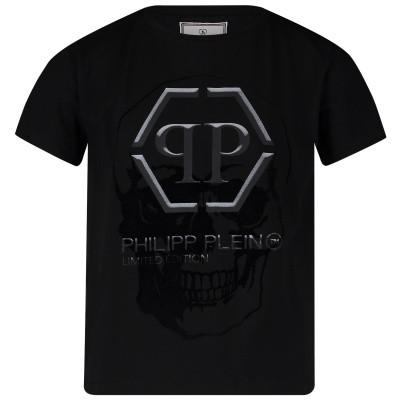 Picture of Philipp Plein BTK0649 kids t-shirt black