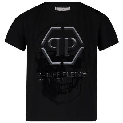 Afbeelding van Philipp Plein BTK0649 kinder t-shirt zwart