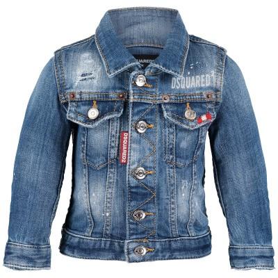 Afbeelding van Dsquared2 DQ02P4 babyjas jeans