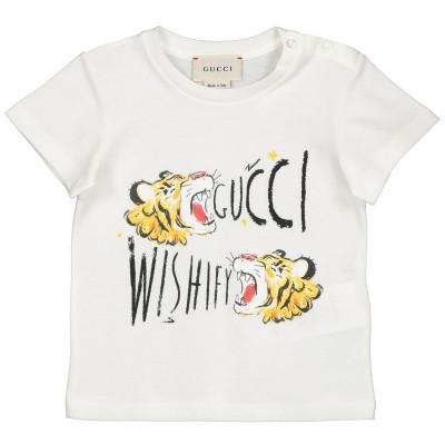c27244fdd2a 139,95 Afbeelding van Gucci 548034 baby t-shirt wit