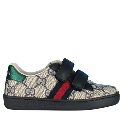 Picture of Gucci 463088 kids sneakers blue