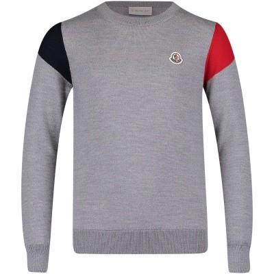 Picture of Moncler 9000805 kids sweater grey
