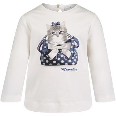 Afbeelding van MonnaLisa 312619PD baby t-shirt off white
