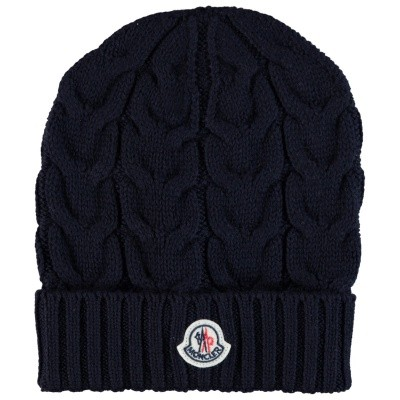 Picture of Moncler 00011005 kids hat navy