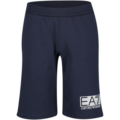 Picture of EA7 3GBS52 kids shorts navy