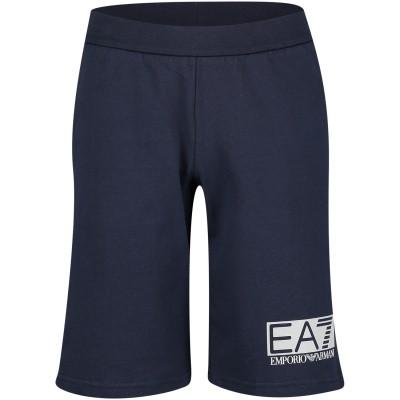 Afbeelding van EA7 3GBS52 kinder shorts navy