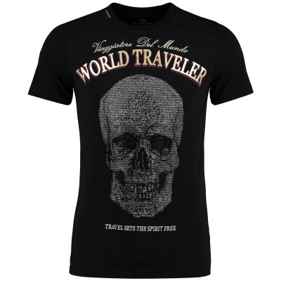 Picture of My Brand MMBTS012GM078 mens t-shirt black