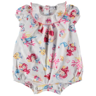 Picture of MonnaLisa 353218 baby playsuit white