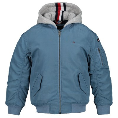 Picture of Tommy Hilfiger KB0KB04473 kids jacket light blue
