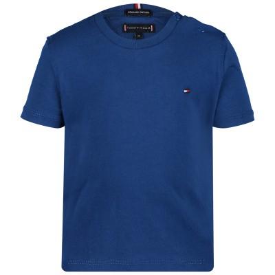 Afbeelding van Tommy Hilfiger KB0KB04692 B baby t-shirt cobalt blauw