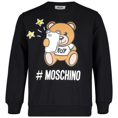 Picture of Moschino HUF02H kids sweater black