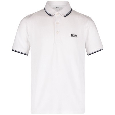 Picture of Boss J25P17 kids polo shirt white
