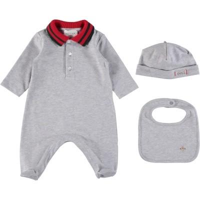 Afbeelding van Gucci 463438 babysetje grijs