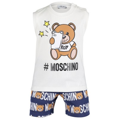 Picture of Moschino MUK023 baby set off white