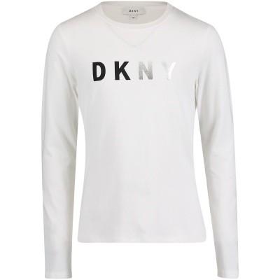 Afbeelding van DKNY D35N85 kinder t-shirt wit