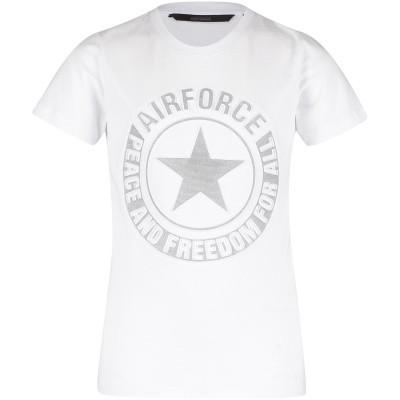 Afbeelding van Airforce B0597 kinder t-shirt wit
