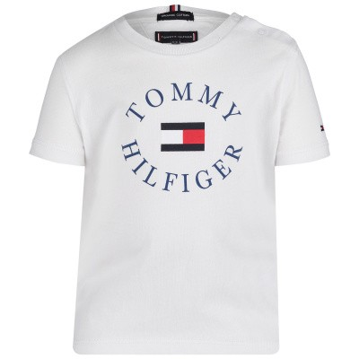 Picture of Tommy Hilfiger KB0KB04676 B baby shirt white