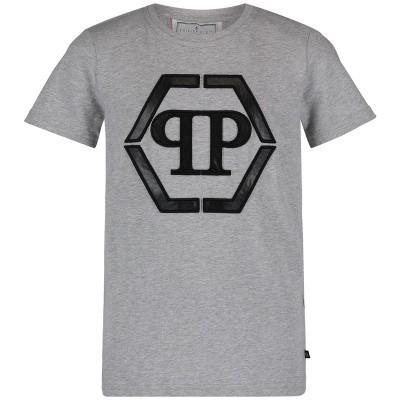Picture of Philipp Plein BTK0696 kids t-shirt grey