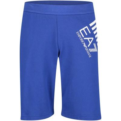 Afbeelding van EA7 3GBS57 kinder shorts cobalt blauw