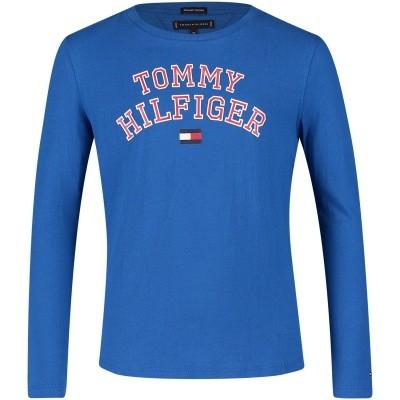 Afbeelding van Tommy Hilfiger KB0KB04432 kinder t-shirt cobalt blauw