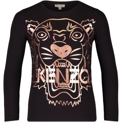 Afbeelding van Kenzo KM10048 kinder t-shirt zwart