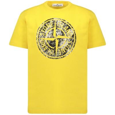 Afbeelding van Stone Island 711621057 kinder t-shirt geel