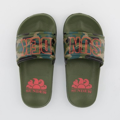 Picture of Sundeck AB338ASPV153 kids flipflops army