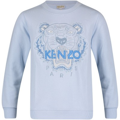 Picture of Kenzo KN15718 kids sweater light blue