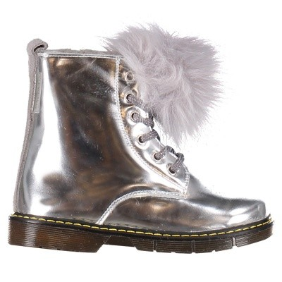 Picture of Babywalker 5666 kids boots silver