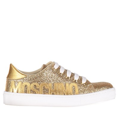 Picture of Moschino 0012013673 kids sneakers gold
