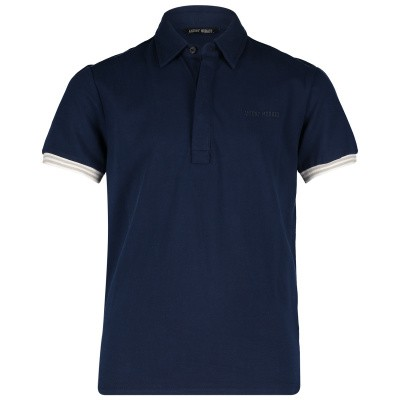 Picture of Antony Morato MKKS00394 kids polo shirt navy