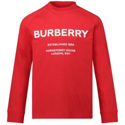 Afbeelding van Burberry 8012763 kinder t-shirt rood